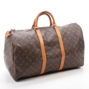 Louis Vuitton Keepall 50 Monogram Canvas & Leather